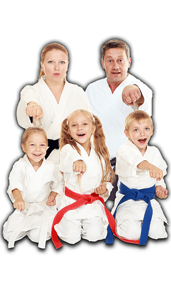Martial Arts Lessons for Families in Orlando FL - Sitting Group Family Banner