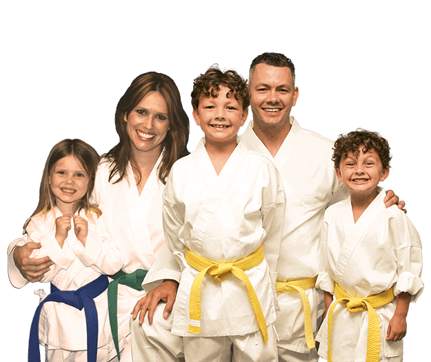 Martial Arts Lessons for Families in Orlando FL - Group Family for Martial Arts Footer Banner