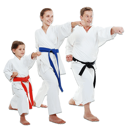 Martial Arts Lessons for Families in Orlando FL - Man and Daughters Family Punching Together
