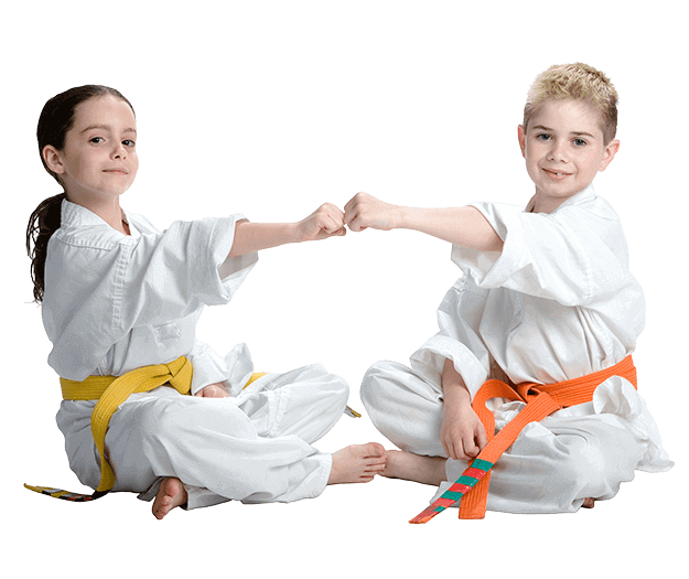 Martial Arts Lessons for Kids in Orlando FL - Kids Greeting Happy Footer Banner